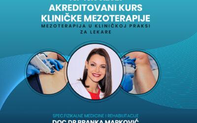 Kurs: Mezoterapija – klinička primena